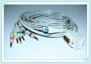 Siemens / Hellige Cardiostat 1 EKG Cable With Leadwires / Banana 4.0mm